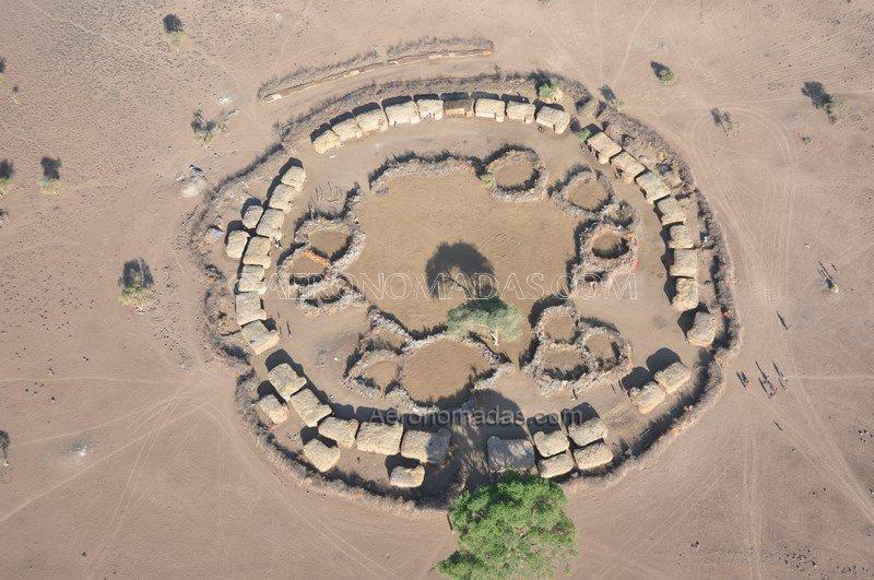 Poblado Masai Kenia