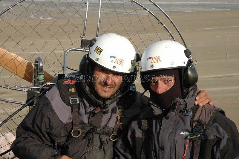 listos para volar en Mongolia